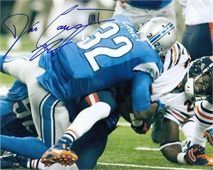Don Carey autographed Detroit Lions 8x10 photo