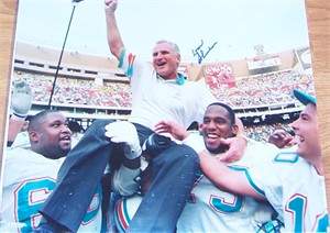Don Shula autographed Miami Dolphins NFL Career Win #325 16x20 poster size photo