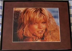 Donna D'Errico autographed 8x10 photo matted & framed