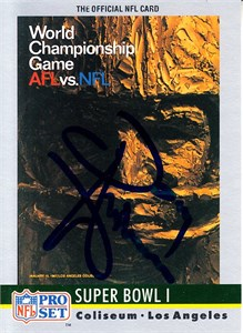 Donny Anderson autographed Super Bowl II logo 1990 Pro Set card