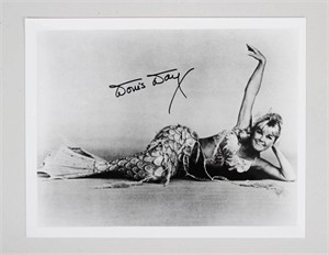 Doris Day autographed Glass Bottom Boat 8x10 black and white photo