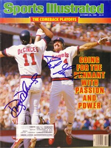 Doug DeCinces & Bob Grich autographed Angels 1986 Sports Illustrated