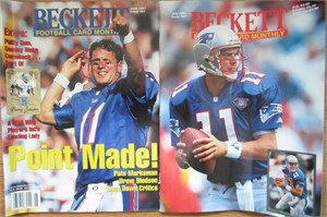 Lot of 2 Drew Bledsoe New England Patriots Beckett Football Monthly magazines