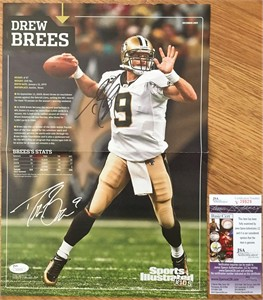 Drew Brees autographed New Orleans Saints 2009 Sports Illustrated for Kids 10x15 inch mini poster JSA