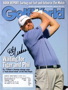 D.J. Trahan autographed 2008 Golf World magazine
