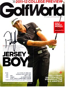 Dustin Johnson autographed 2011 Sports Illustrated Golf Plus magazine