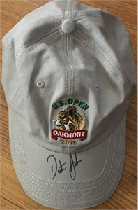 Dustin Johnson autographed 2016 U.S. Open embroidered golf cap or hat
