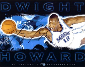 Dwight Howard autographed Orlando Magic 8x10 photo