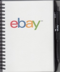 eBay logo mini blank notepad or notebook with pen