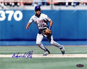 Edgardo Alfonzo autographed New York Mets 8x10 photo (Steiner)