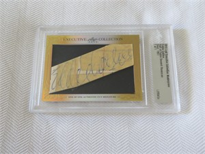 Eddie Collins 2015 Leaf Masterpiece Cut Signature certified autograph card 1/1 (PSA/DNA)
