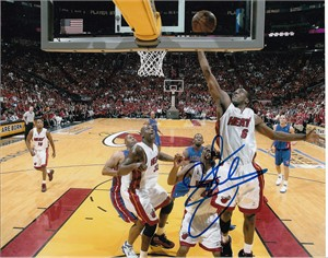 Eddie Jones autographed Miami Heat 8x10 photo