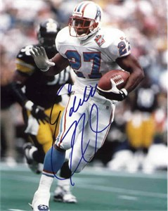 Eddie George autographed 1997 Tennessee Oilers 8x10 photo (Score Board)