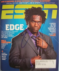 Edgerrin James autographed 2006 ESPN Magazine