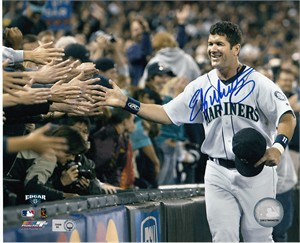 Edgar Martinez autographed Seattle Mariners 8x10 photo