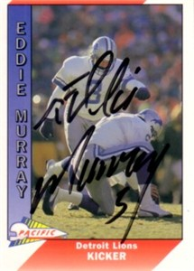 Eddie Murray autographed Detroit Lions 1991 Pacific card