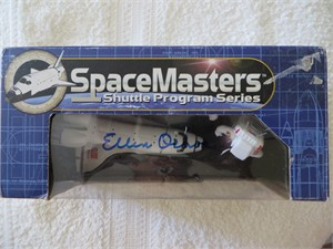 Ellen Ochoa autographed Space Shuttle SpaceMasters toy