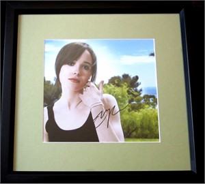 Ellen Page autographed photo matted & framed