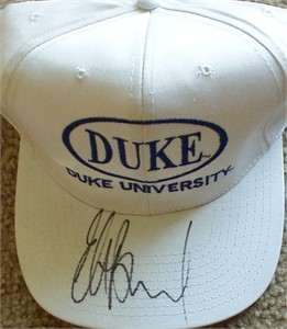 Elton Brand autographed Duke Blue Devils embroidered cap or hat