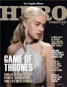 Game of Thrones Hero Complex 2014 LA Times magazine MINT (Emilia Clarke)