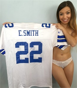 Emmitt Smith autographed Dallas Cowboys authentic Reebok white replica jersey