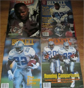 Lot of 4 Emmitt Smith Dallas Cowboys Beckett Football Monthly magazines