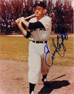 Enos Slaughter autographed New York Yankees 8x10 photo