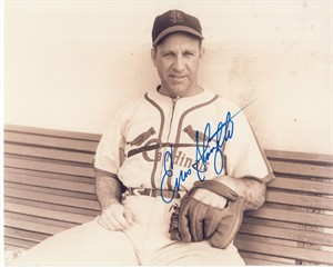 Enos Slaughter autographed St. Louis Cardinals 8x10 photo