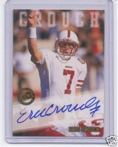 Eric Crouch certified autograph Nebraska 2002 Press Pass card