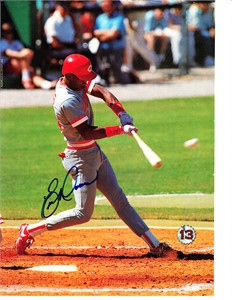 Eric Davis autographed Cincinnati Reds full page magazine photo