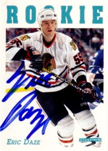 Eric Daze autographed Chicago Blackhawks 1995-96 Score card