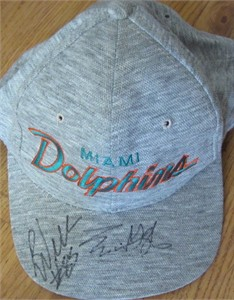 Eric Green & Ronnie Williams autographed 1995 Miami Dolphins cap or hat