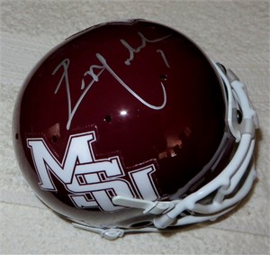 Eric Moulds autographed Mississippi State Bulldogs mini helmet