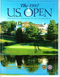 Ernie Els autographed 1997 U.S. Open golf program