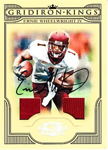 Ernie Wheelwright certified autograph Minnesota Golden Gophers 2008 Donruss game jersey card #8/30