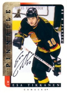 Esa Tikkanen certified autograph Vancouver Canucks Be A Player card