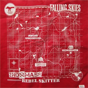 Falling Skies Season 3 2013 Wondercon EXCLUSIVE promo 21x21 red bandanna with map