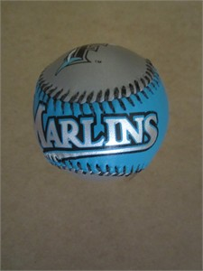 Florida Marlins leather logo baseball