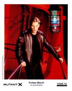 Forbes March autographed Mutant X 8x10 photo