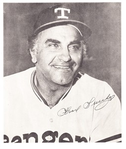 Frank Lucchesi autographed Texas Rangers 8x9 photo