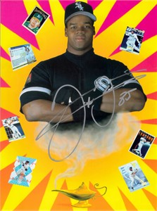 Frank Thomas autographed Chicago White Sox full page magazine ad