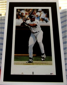 Frank Thomas autographed Chicago White Sox lithograph #155/450 matted & framed