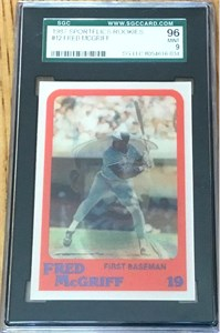 Fred McGriff 1987 Sportflics Rookies graded SGC 96 MINT (PSA 9)