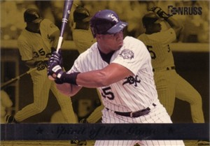 Frank Thomas 1994 Donruss Spirit of the Game jumbo card (#/10000)