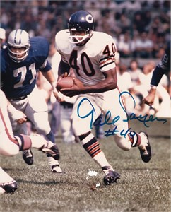 Gale Sayers autographed Chicago Bears 8x10 black & white photo