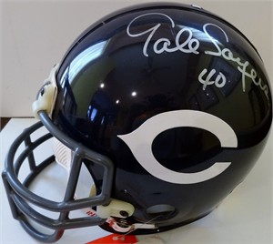 Gale Sayers autographed Chicago Bears authentic full size throwback helmet