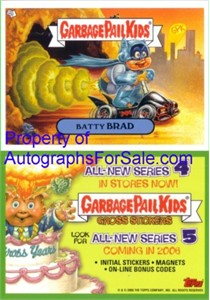 Garbage Pail Kids Series 5 2005 Topps promo sticker card (Batty Brad)
