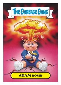 Garbage Pail Kids Adam Bomb 2015 Comic-Con exclusive set of 10 5x7 jumbo cards