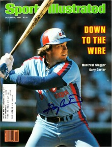 Gary Carter autographed Montreal Expos 1980 Sports Illustrated