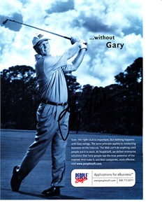 Gary Nicklaus autographed golf magazine full page ad
